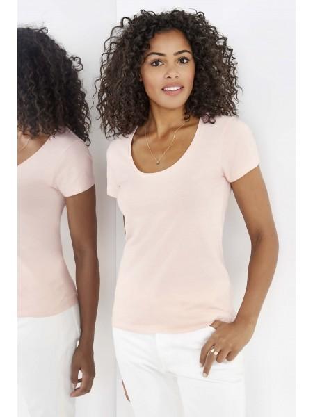 Женская футболка с глубоким круглым вырезом METROPOLITAN-02079